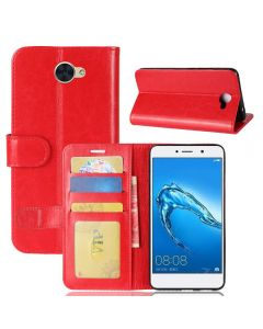 Huawei Y7 Flip Folio Leather Wallet Case with ID and Credit Card Pockets
