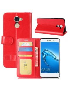 Huawei Y7 Prime Flip Folio Leather Wallet Case with ID and Credit Card Pockets