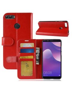 Huawei Y9 2018 Flip Folio Leather Wallet Case with ID and Credit Card Pockets