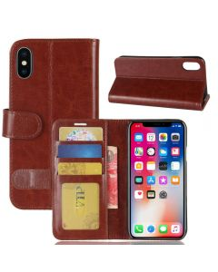 iPhone X Flip Folio Leather Wallet Case with ID and Credit Card Pockets