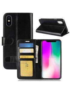 iPhone XR Flip Folio Leather Wallet Case with ID and Credit Card Pockets