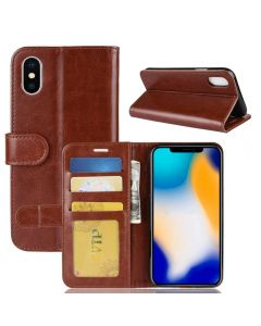 iPhone XS Max Flip Folio Leather Wallet Case with ID and Credit Card Pockets