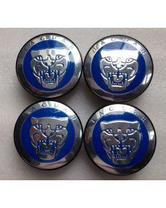4 pcs ALLOY WHEEL CENTRE Cap Badge 59mm Emblem For JAGUAR XJ XJR XJ6 X S TYPE