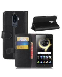 Lenovo K8 Note Phone Case Genuine leather Wallet Flip Cover Stand Display Card Pocket