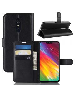 LG G7 Fit Phone Case Wallet Flip Cover Folio Leather Case Stand Display Card Pocket
