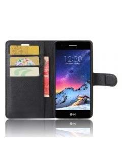LG K8 2017 USA LV3 Ms210 Phone Case Wallet Flip Cover Leather Stand Display Card Pocket