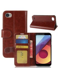 LG Q6 Plus /LG Q6 Flip Folio Leather Wallet Case with ID and Credit Card Pockets