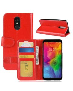 LG Q7 Flip Folio Leather Wallet Case with ID and Credit Card Pockets