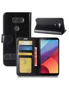 LG V30 Flip Folio Leather Wallet Case with ID and Credit Card Pockets