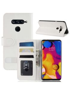 LG V40 ThinQ Flip Folio Leather Wallet Case with ID and Credit Card Pockets