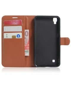 LG X power K220DS K220 LS755 US610 Phone Case Wallet Flip Cover Leather Stand Display Card Pocket