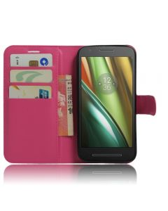 Moto E3 Phone Case Wallet Flip Cover Leather Stand Display Card Pocket