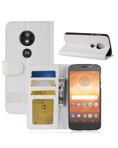 MOTO E5 Play Flip Folio Leather Wallet Case with ID and Credit Card Pockets