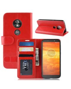 MOTO E5 Play GO Flip Folio Leather Wallet Case with ID and Credit Card Pockets