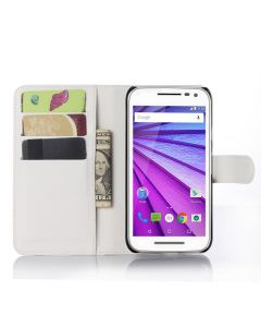 Moto G3/Moto G TURBO EDITION Phone Case Wallet Flip Cover Leather Stand Display Card Pocket
