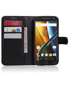 Moto G4/Moto G4 Plus Phone Case Wallet Flip Cover Leather Stand Display Card Pocket