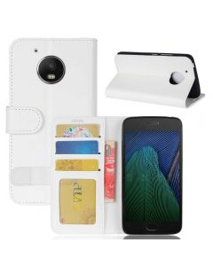 MOTO G5 Flip Folio Leather Wallet Case with ID and Credit Card Pockets