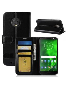 MOTO G6 Flip Folio Leather Wallet Case with ID and Credit Card Pockets