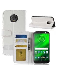 MOTO G6 Plus Flip Folio Leather Wallet Case with ID and Credit Card Pockets
