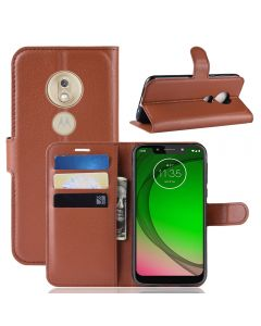 MOTO G7 Play (US) Phone Case Wallet Flip Cover Folio Leather Case Stand Display Card Pocket