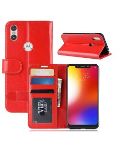 MOTO One P30 Play Flip Folio Leather Wallet Case with ID and Credit Card Pockets