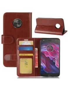 MOTO X4 Flip Folio Leather Wallet Case with ID and Credit Card Pockets
