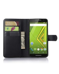 Moto X Play/MOTO X3 LUX Phone Case Wallet Flip Cover Leather Stand Display Card Pocket
