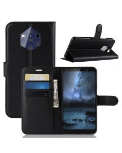 Nokia 9 PureView Phone Case Wallet Flip Cover Folio Leather Case Stand Display Card Pocket