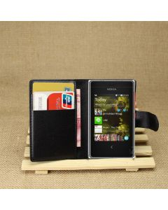 Nokia Asha 503 Phone Case Wallet Flip Cover Leather Stand Display Card Pocket