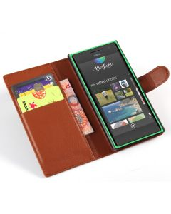 Nokia Lumia 730 Phone Case Wallet Flip Cover Leather Stand Display Card Pocket