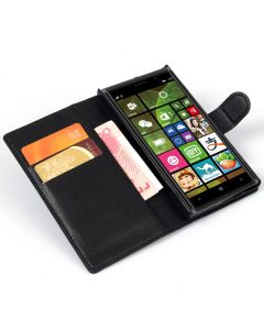 Nokia Lumia 830 Phone Case Wallet Flip Cover Leather Stand Display Card Pocket