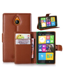 Nokia X2 Phone Case Wallet Flip Cover Leather Stand Display Card Pocket