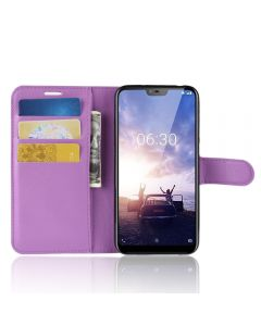 Nokia X6 Phone Case Wallet Flip Cover Leather Stand Display Card Pocket