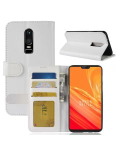OnePlus 6 Flip Folio Leather Wallet Case with ID and Credit Card Pockets