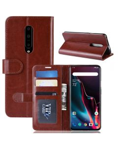 OnePlus 7 Flip Folio Leather Wallet Case with ID and Credit Card Pockets
