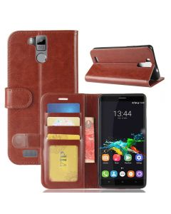 Oukitel K6000 Pro Flip Folio Leather Wallet Case with ID and Credit Card Pockets