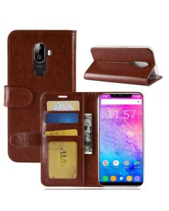 Oukitel U18 Flip Folio Leather Wallet Case with ID and Credit Card Pockets