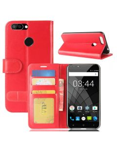 Oukitel U22 Flip Folio Leather Wallet Case with ID and Credit Card Pockets