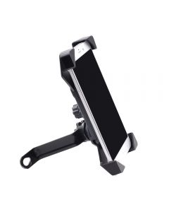 Phone holder with corner protection mounted on Rearview mirror of Bike or Motorcycle