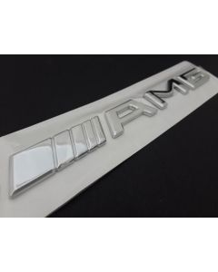 2 pcs New Car Styling 3D Silver Badge Emblem Logo Sticker for AMG C33 S55 CLS63 E320