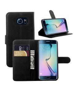 Samsung Galaxy S6 edge Ultra Slim Wallet Flip Cover Leather Phone Case Kickstand Card Pocket Mint