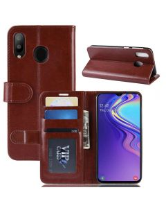 Samsung M20 Flip Folio Leather Wallet Case with ID and Credit Card Pockets
