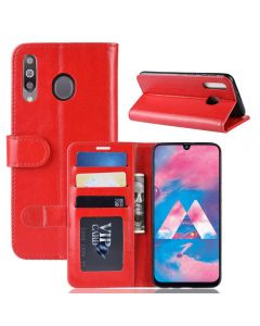 Samsung M30 Flip Folio Leather Wallet Case with ID and Credit Card Pockets