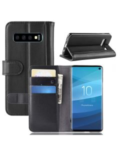 Samsung S10 Phone Case Wallet Flip Cover Folio Genuine Leather Case Stand Display Card Pocket