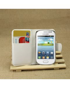 Samsung S6810 Galaxy Fame Phone Case Wallet Flip Cover Leather Stand Display Card Pocket