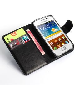 Samsung S7500 GALAXY Ace Plus Phone Case Wallet Flip Cover Leather Stand Display Card Pocket