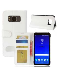 Samsung S8 Active Flip Folio Leather Wallet Case with ID and Credit Card Pockets