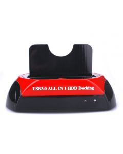 USB3.0 Dual HDD Docking IDE Sata ALL in 1 One Touch Backup + HUB