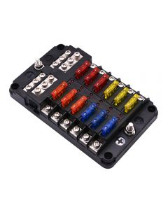 Screw terminal Fuse block with multiple independent circuit and led indicator