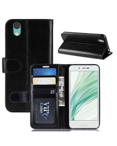 Sharp AQUOS sense Lite SH-01K SH-M05 Android one S3 Flip Folio Leather Wallet Case with ID and Credit Card Pockets